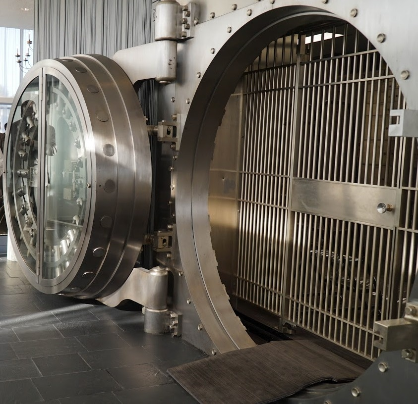 BBVA Compass vault at the River Oaks branch in Houston