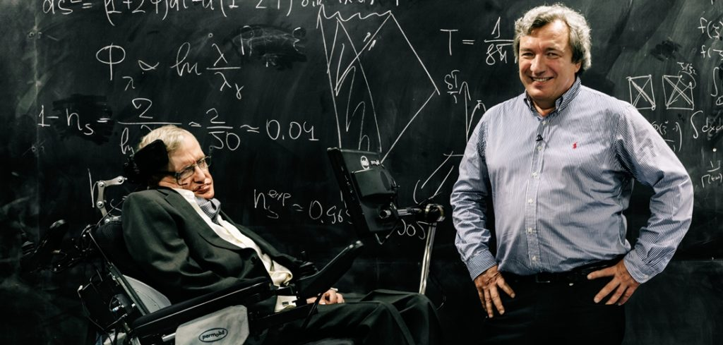 Picture of Stephen Hawking and Viatcheslav Mukhanov, BBVA Foundation Frontiers of Knowledge Award. Picture by Carlos Luján_XL Vocento