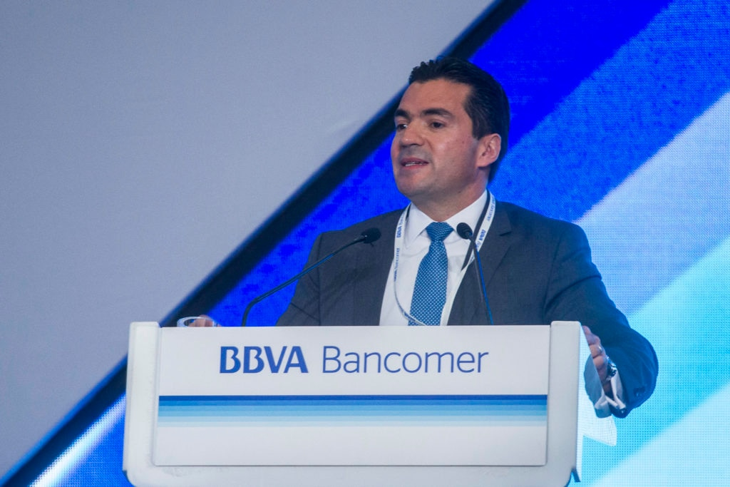 Picture of Eduardo Osuna Osuna, Deputy Chairman and CEO of BBVA Bancomer at the National Meeting of BBVA Bancomer executives