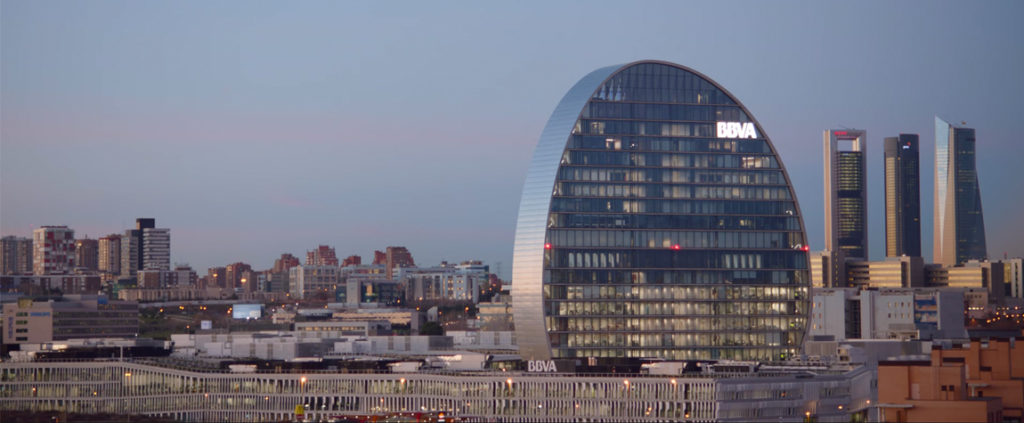 Picture of La Vela, BBVA´s new architectural Madrid building BBVA