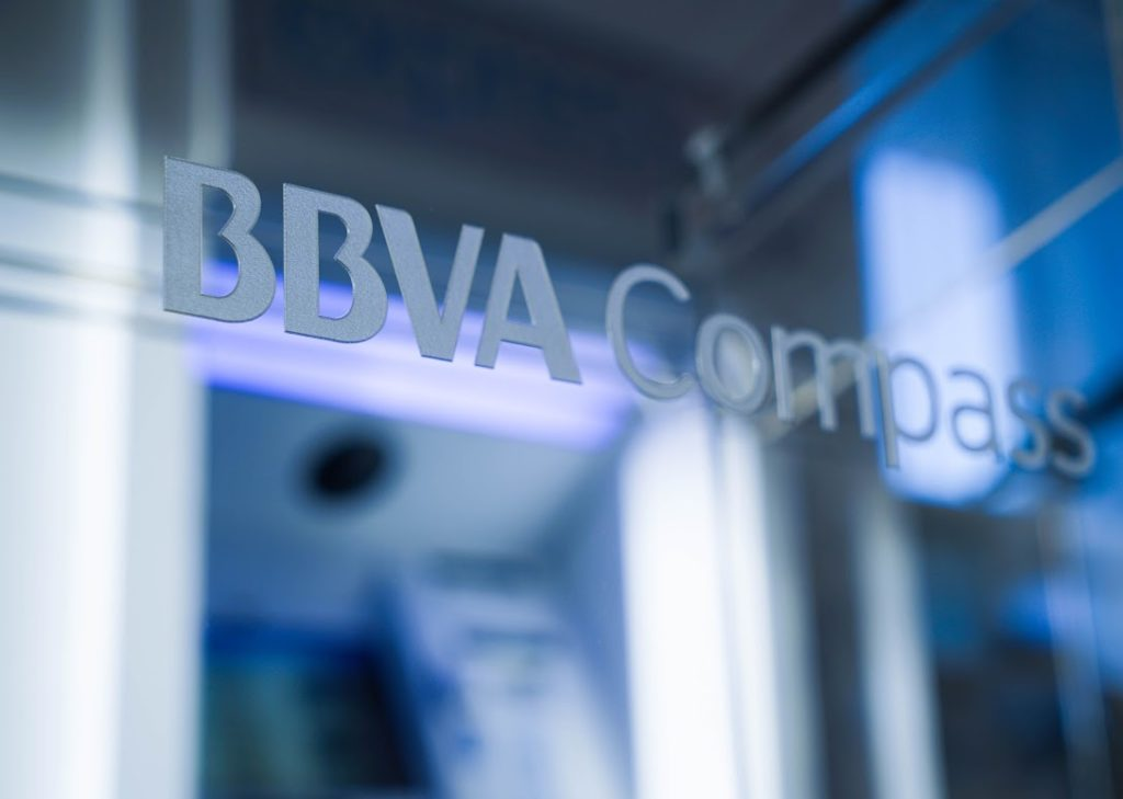 BBVA Compass logo in Houston