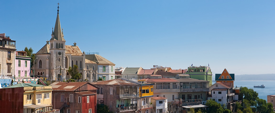 Picture of Valparaíso landscape roofs houses Chile BBVA