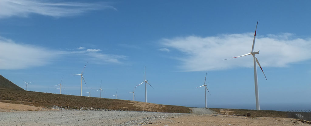 Picture of Wind power renewable energy sustainability El Arrayan Chile BBVA