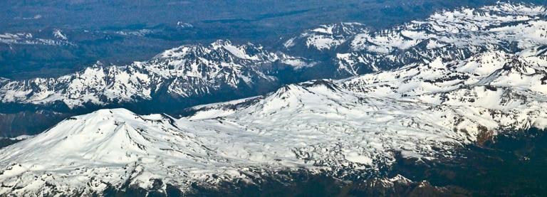Picture of snow mountains landscape chillan Chile BBVA