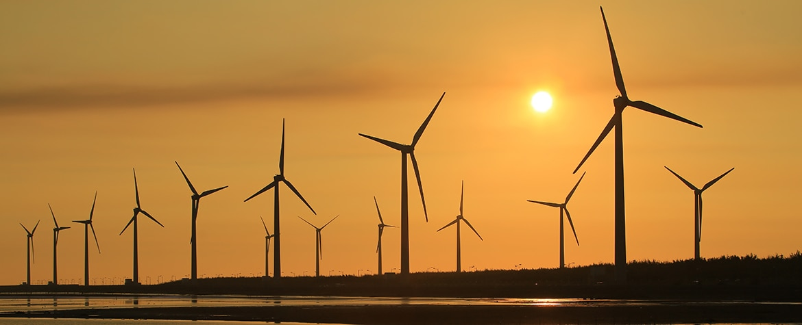 Picture of Sunset wind power renewable energy sustainability Chile BBVA