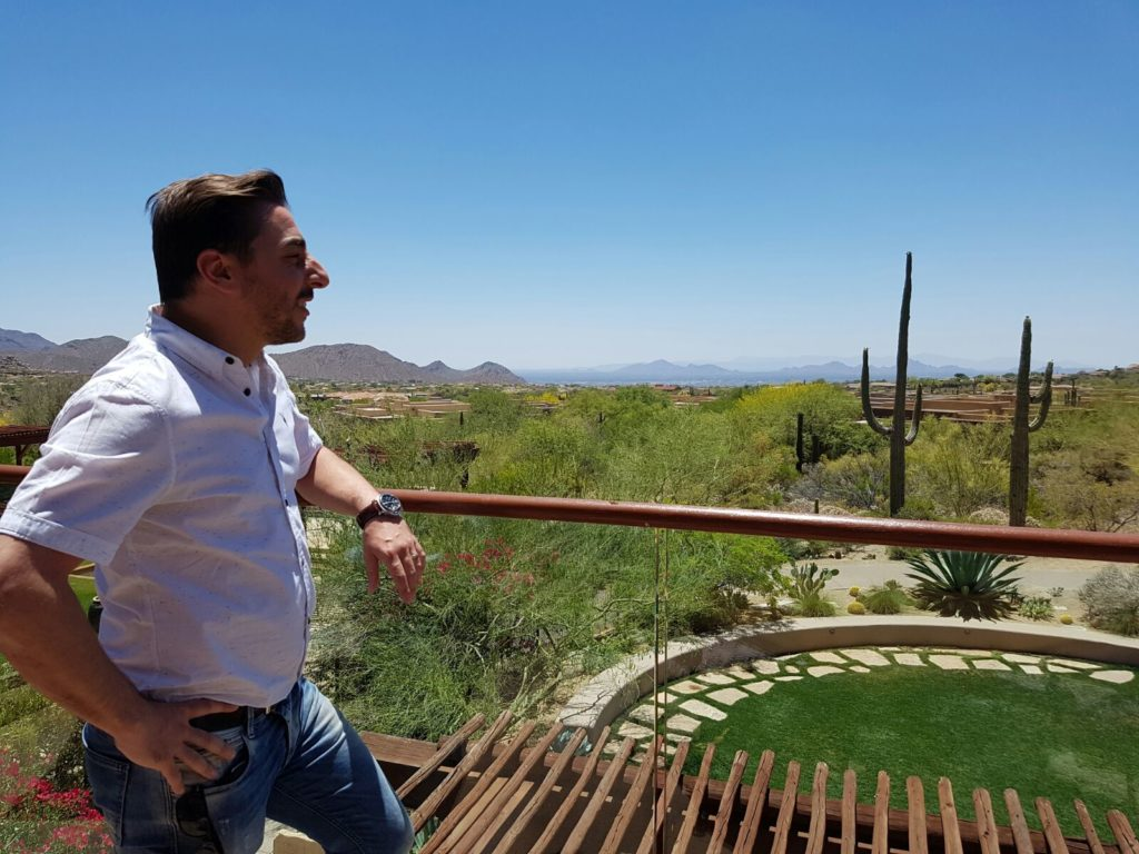 Picture of Jordi Roca in Phoenix during his trip before the bbva tour 2016