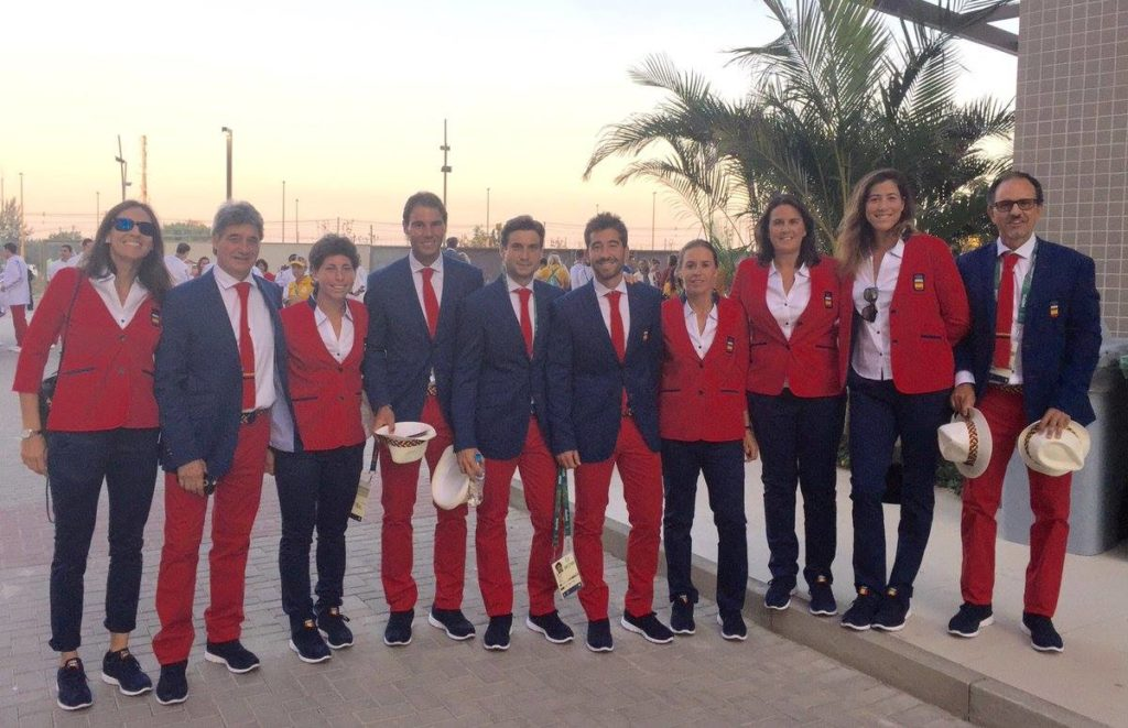 Team Spain during the Rio 2016 Opening Ceremony