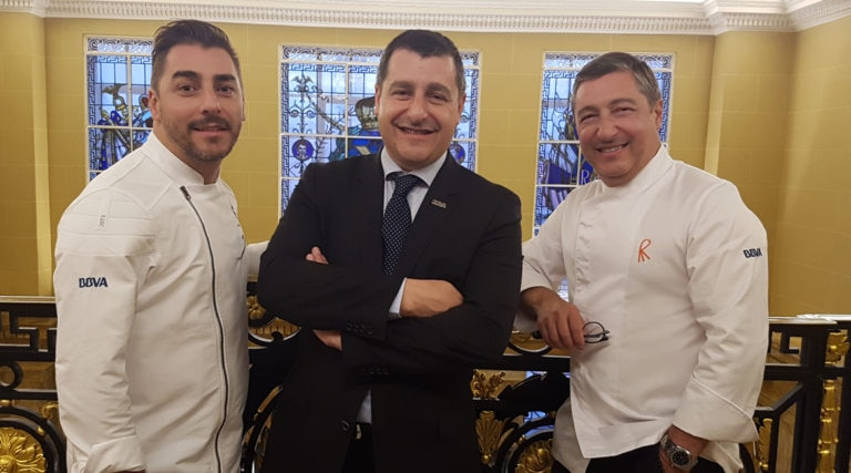 Picture of The Roca brothers at Hotel Café Royal London during the BBVA Celler de Can Roca tour 2016