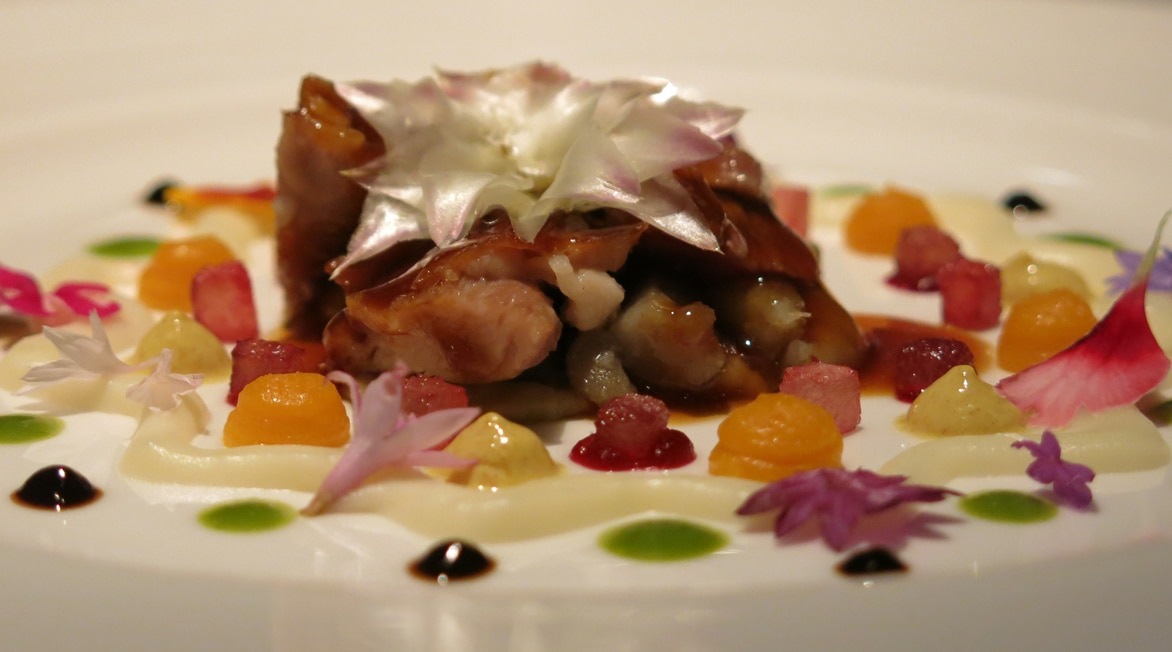 Picture of Mandala lamb from the menu served in London during the BBVA Roca Tour 16