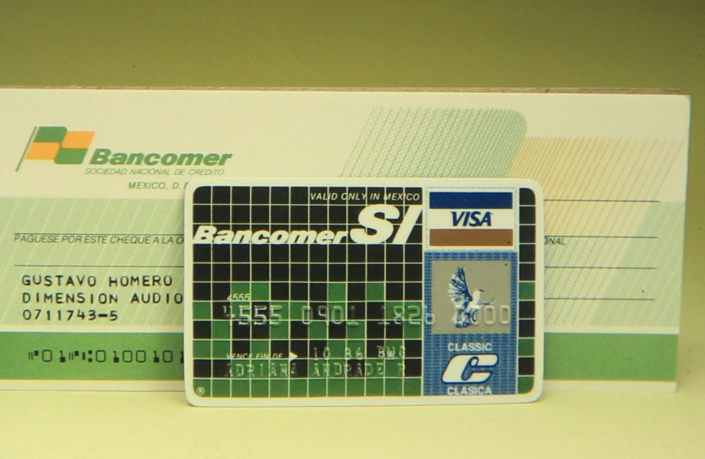 Picture of 1985 Launch of Bancomer Si, the first debit card on the Mexican market BBVA