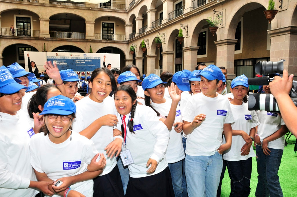 Picture of 2006 Launch of the Por los que se quedan Scholarship Program for secondary education students BBVA