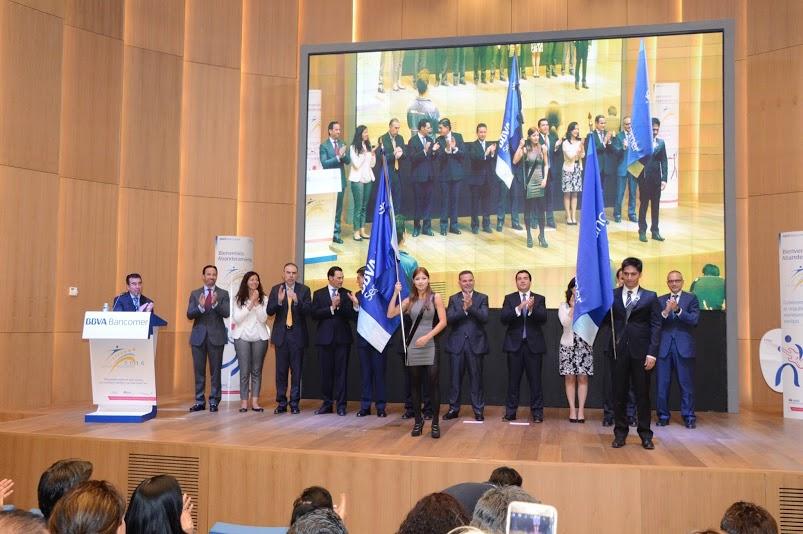 Picture of Flag ceremony BBVA Bancomer