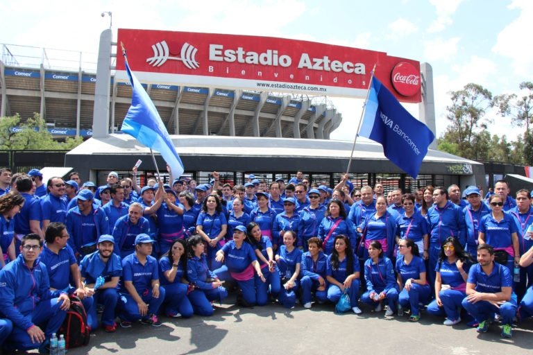 Picture of contingent at the 2016 Bank Games BBVA Bancomer