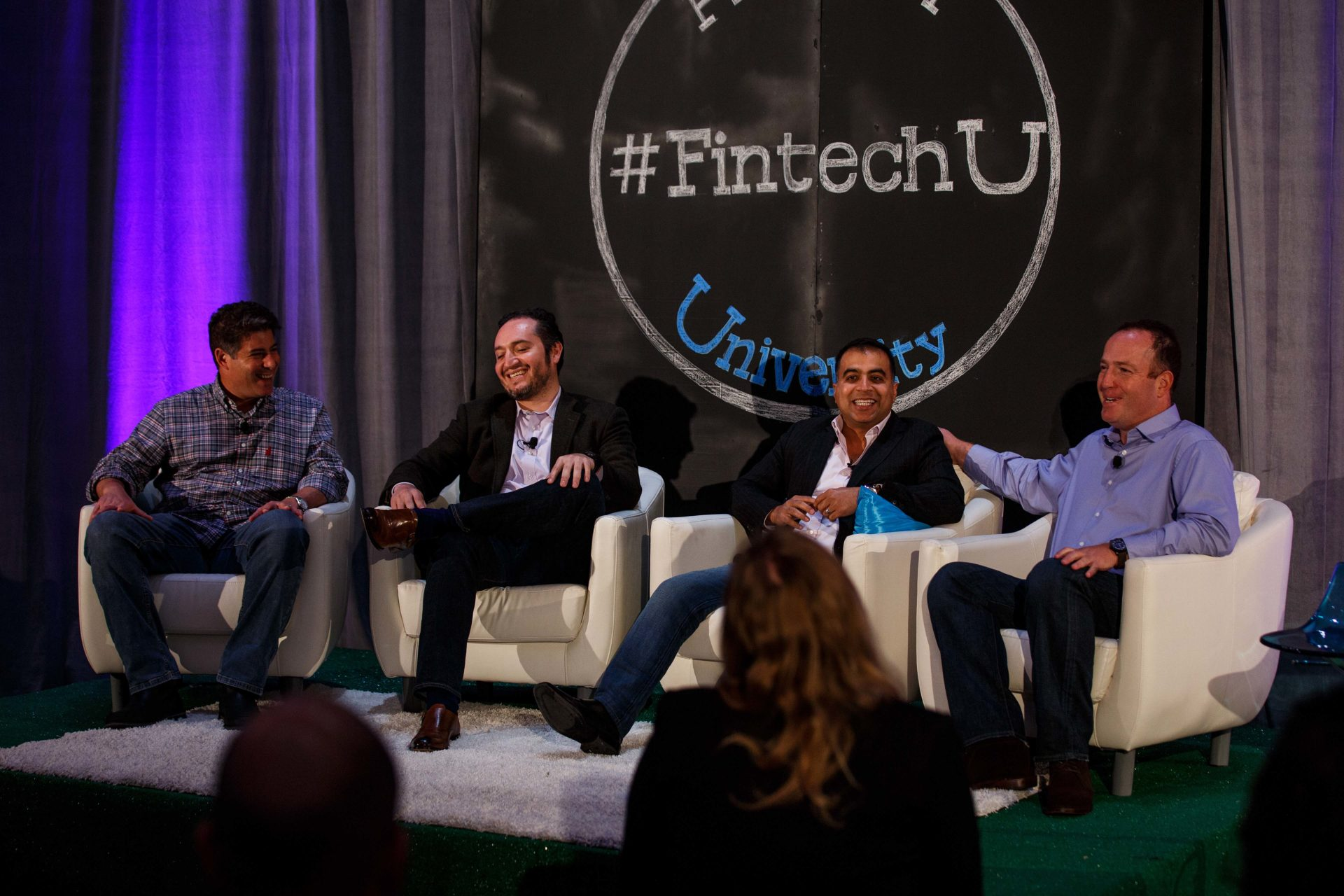 A photo of the SME Financial Services panel at Fintech University.
