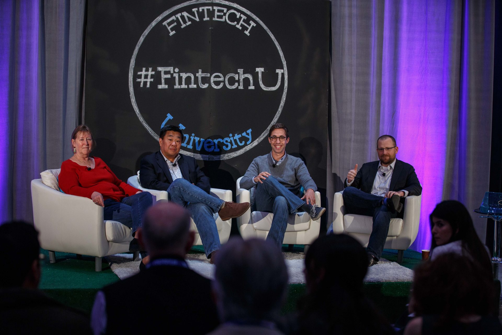 A photo of Fintech University's payments panel.