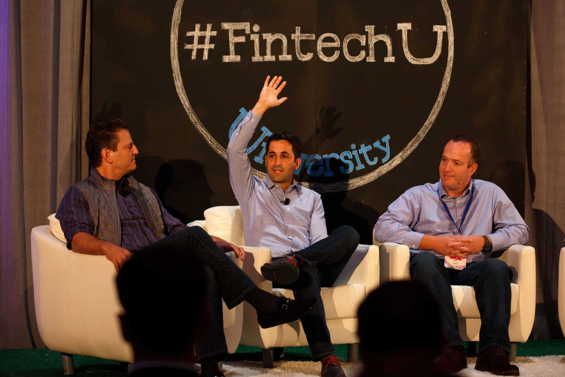 A photo of the lending panel at Fintech University.