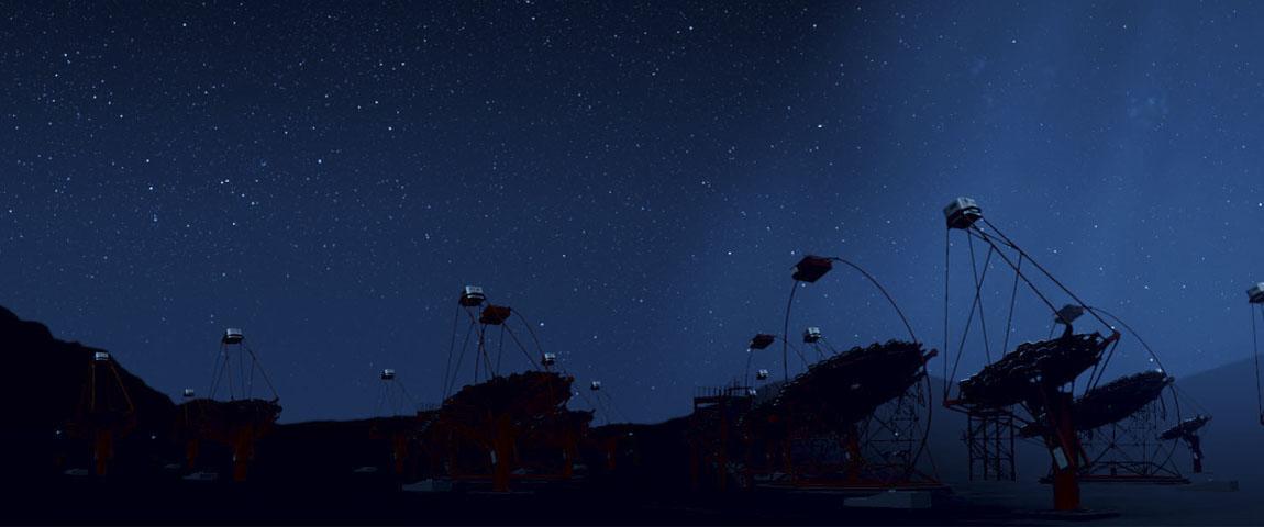 Image Cherenkov Telescope Array. Conference at BBVA Foundation. Image DESY