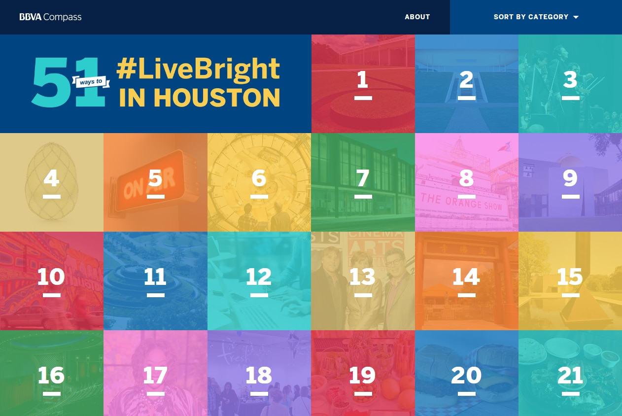 A list published on BBVABright.com showcasing stuff to do in Houston