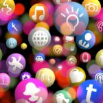 icons social network resource technology