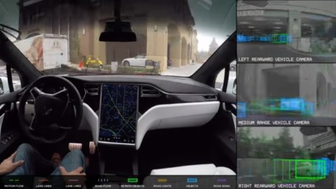 Tesla testing self-driving Model 3