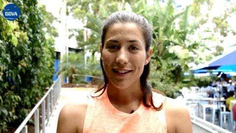 Garbiñe Muguruza in Australian Open Melbourne Thumbnail