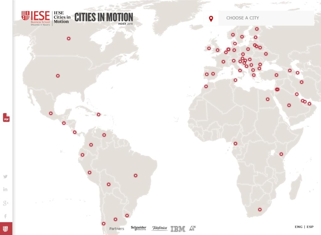 screen shot IESE school about smart cities