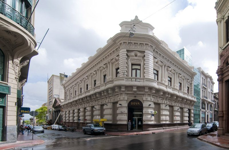 picture of headquarters office bank access clients building uruguay bbva
