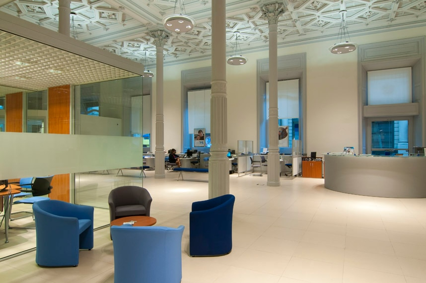 picture of headquarters office bank access clients uruguay bbva