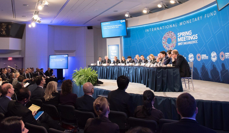 Spring Meetings fintech group with Fernandez de Lis IMF FMI