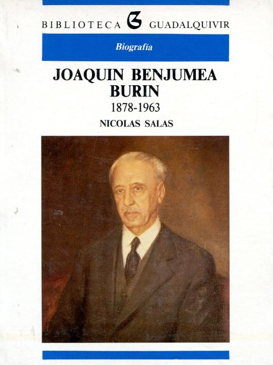 Cover of the biography of Joaquin Benjumea, Finance Minister signed the Law of 1946