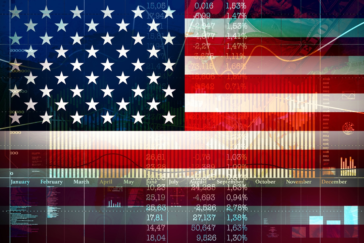 RESOURCE recurso America USA Financial concept of growth on the American Stock Exchange