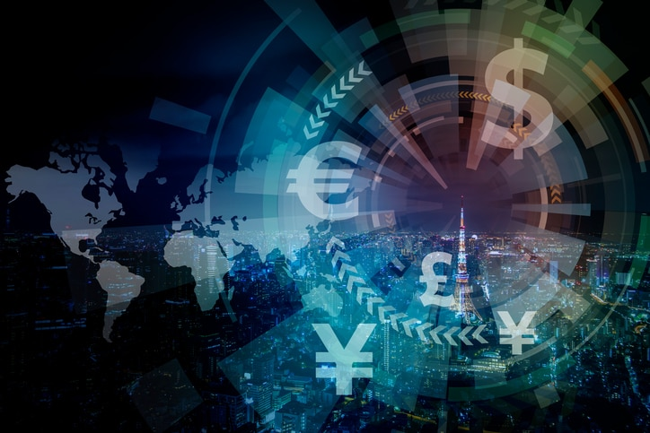 RESOURCE recurso fintech, financial technology and cityscape stock finance economy