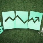 RESOURCE recurso growing economy finances concept Green financial graph