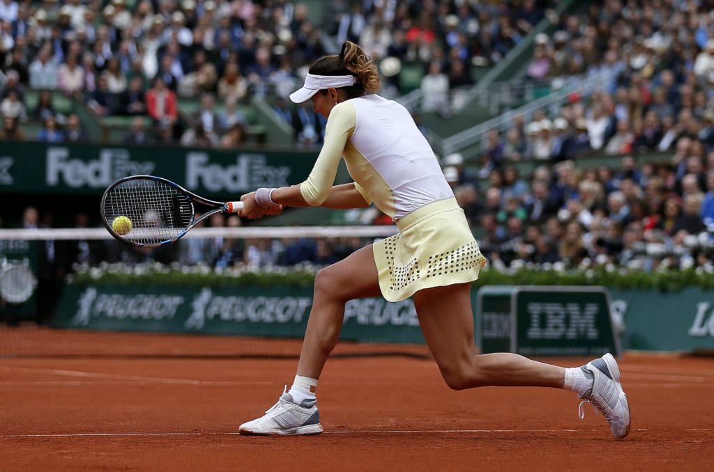 Garbiñe Muguruza in Roland Garros 2016 final