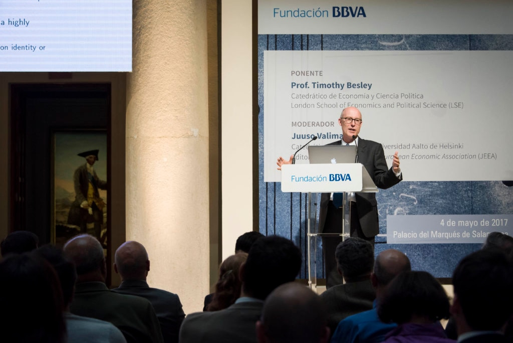 Image of Timothy Besley. Journal of the Economic Association - Fundación BBVA Lecture