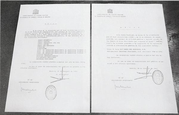 Rumasa expropriation document bbva
