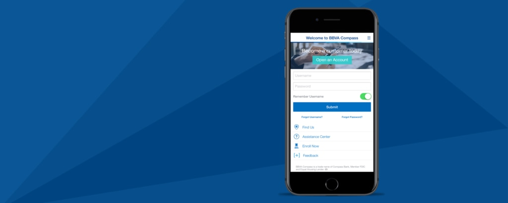 BBVA Compass Mobile Banking 5.0 makes becoming a customer easier