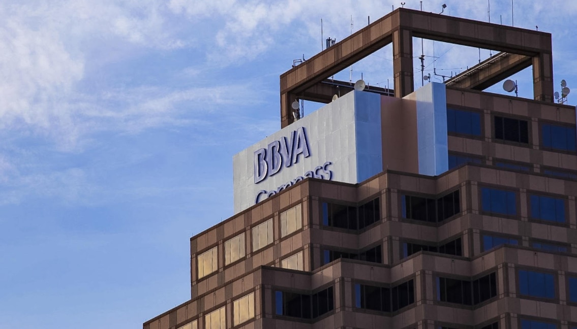 BBVA Compass' name was recently added atop San Antonio's tallest office building, the Weston Centre.
