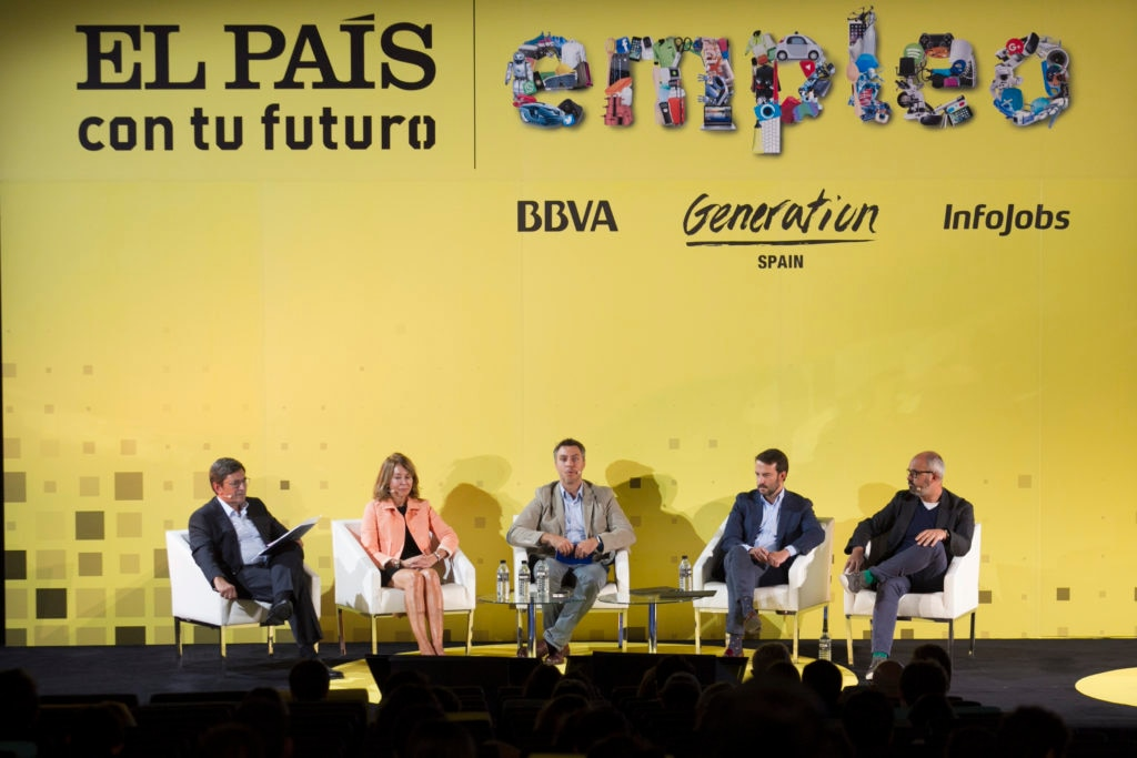 BBVA Spain's Head of People and Values Pedro Méndez at the forum 'El País with your future job', sponsored by BBVA